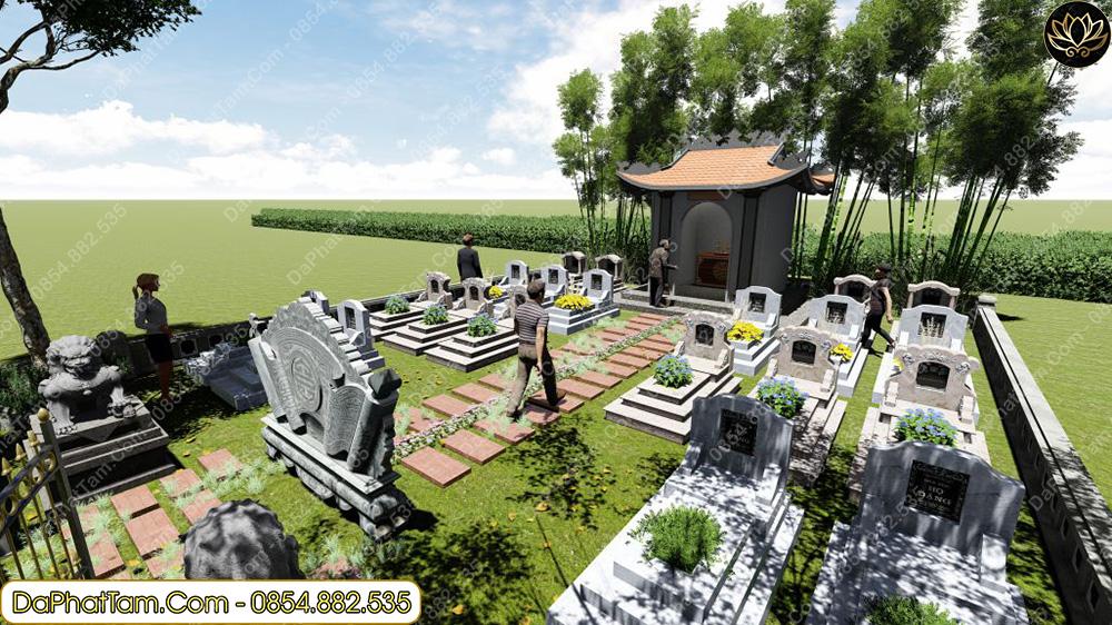 vị trí mộ đẹp theo phong thủy, xây mộ phong thủy, đá phát tâm