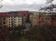 Hiking the hill to Skansen Kronan