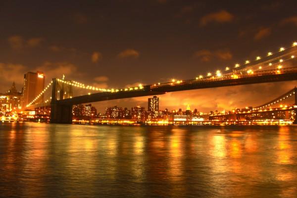 Geniet van de zonsondergang in New York