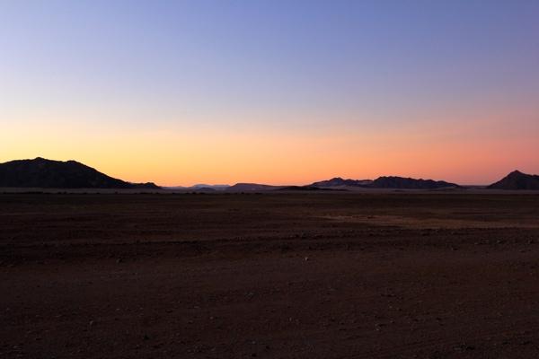 Zonsopkomst in de Sossusvlei namibie sessriem campsite