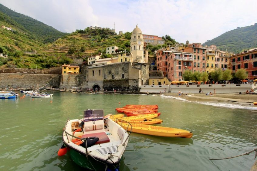 Cinque Terre mag je eigenlijk niet missen tijdens jouw route toscane van 1 week