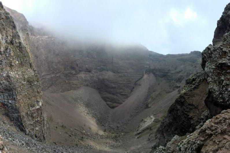 De vulkaan de Vesuvius in Italie nabij Napels