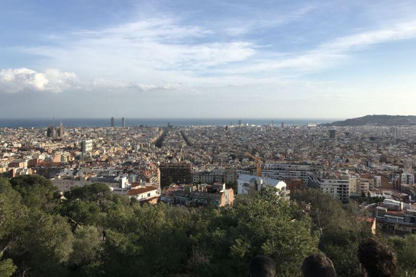Uitzicht park Guell Barcelona favoriete plekje Spanje
