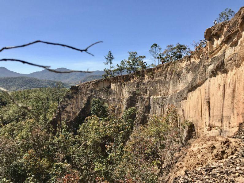 De Pai Canyon vind je in de prachtige omgeving van Pai Thailand