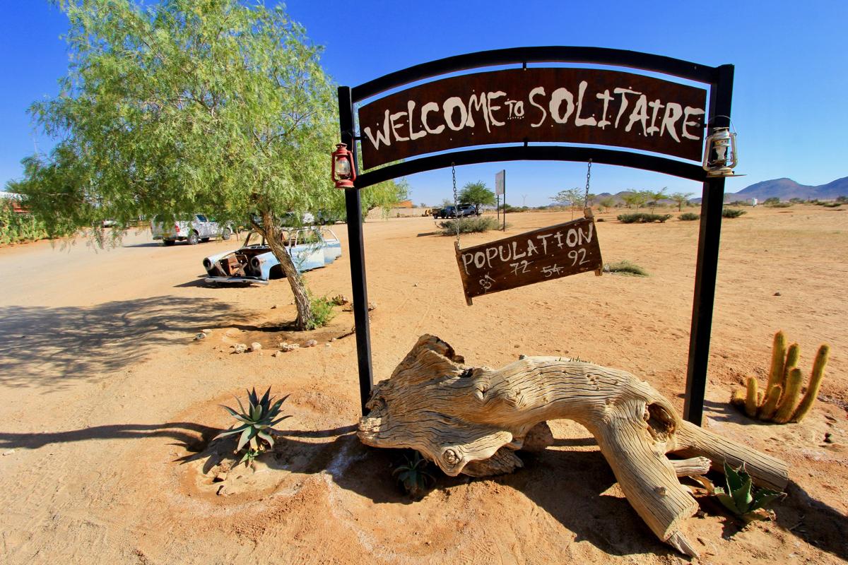 Solitaire is klein maar hoort in je route Namibie