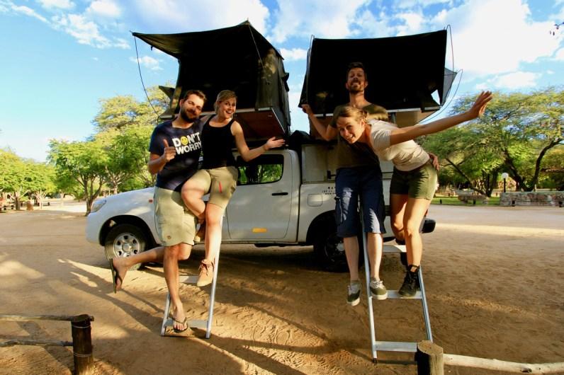 Het eindigt onze route namibie & botswana met daktent