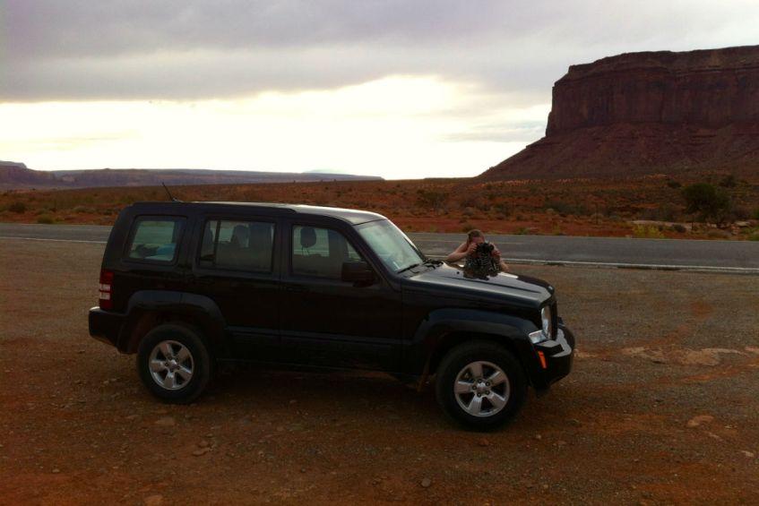 Onze huurauto tijdens onze rondreis West Amerika