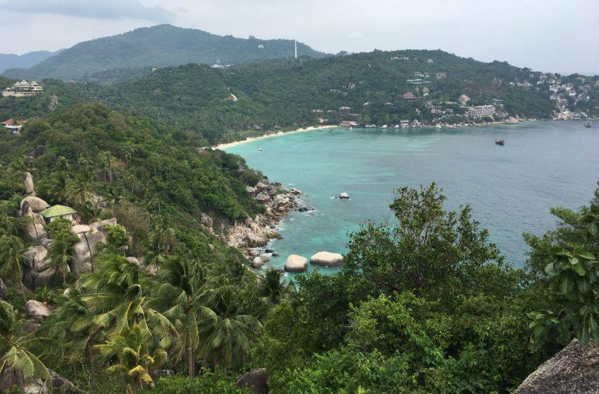 Thailand bezoeken en de mooiste uitkijkpunten bekijken zoals deze op Koh Tao