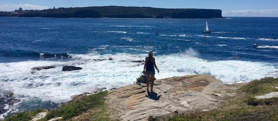 Zwaaien naar Manly vanaf de South Head Heritage Trail