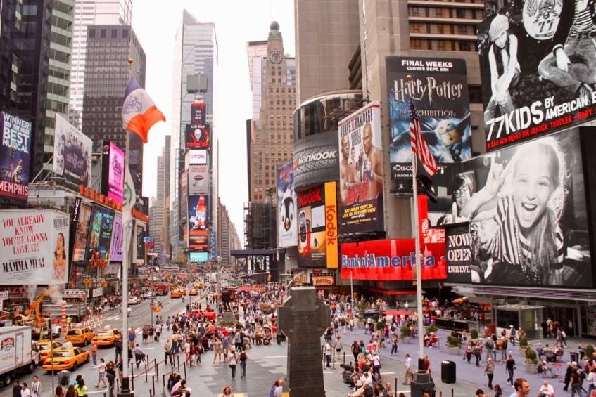 Times Square mag je niet missen als je op rondreis Canada & New York bent