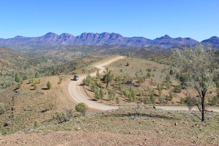 Razorback lookout in Flinders Ranges
