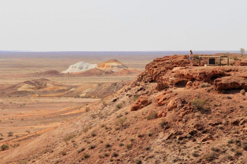 De kleuren van de Painted Desert aan de Oodnadatta Track zijn magisch