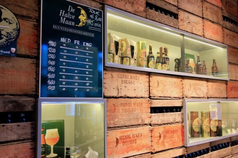 Bezoek een bierbrouwerij in Belgie zoals brouwerij de Halve Maan in Brugge
