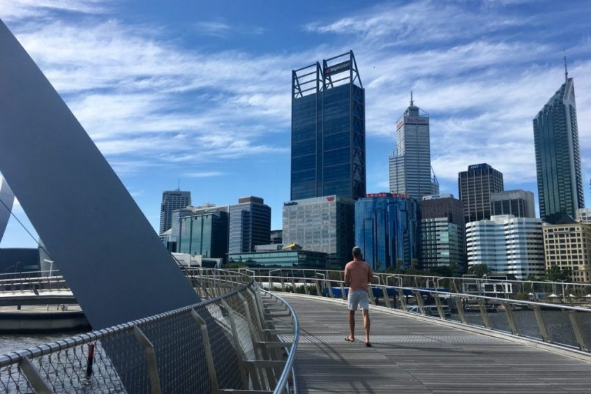 Perth is een hippe stad in west australie