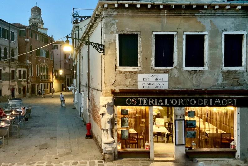 Lekker eten in Venetie doe je bij Osteria l'orto dei mori
