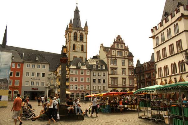 De Hauptmarkt in Trier