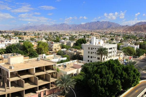 Uitzicht over Aqaba