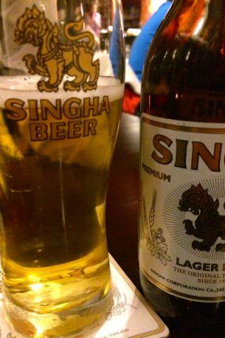 Singha is echt mijn Thaise lievelingsbier