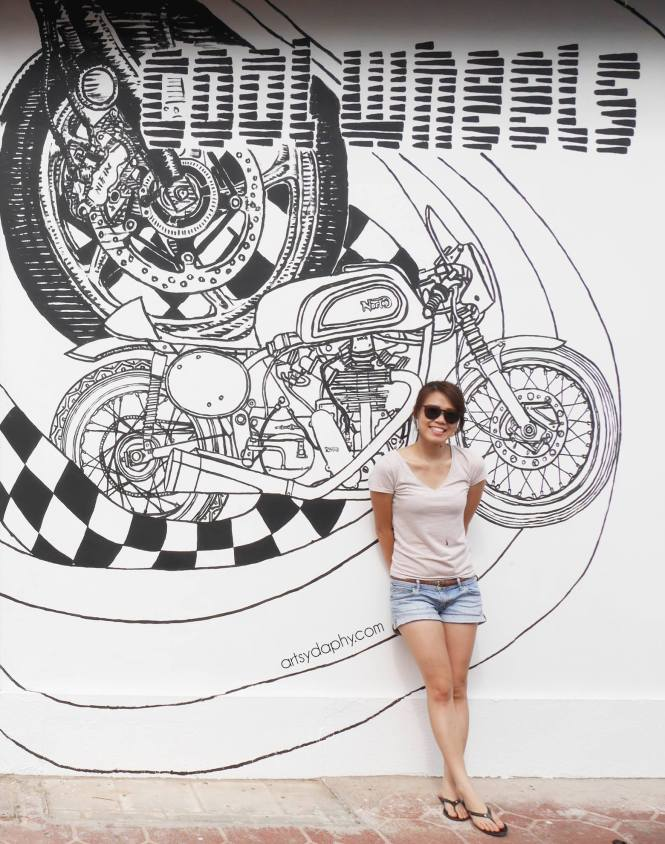 daphne cool wheels mural