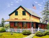 """Rebecca's House with Chicken"" by Daphne Wynne Nixon, 2005"