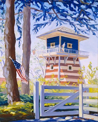 """Red, White, and Blue Tank House"" by Daphne Wynne Nixon"