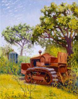 """""""Bob's 1933 Cleatrack Model 35 Tractor"""" by Daphne Wynne Nixon, 2005"""