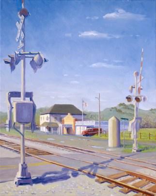 """Old Town Cordelia Railroad Crossing"" by Daphne Wynne Nixon, 2005"