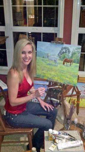 Daphne in her studio