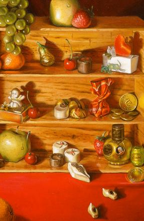 "Detail from ""Sweet Memories"" by Daphne Wynne Nixon"