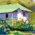 """Becky's Cottage"", oil, by Daphne Wynne Nixon"