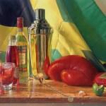 """The Jamaican Punch"" by D. Wynne Nixon, oil on board, 18″ x 24″"