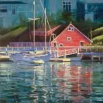 """""""Red Morning"""", oil, by Daphne Wynne Nixon"""