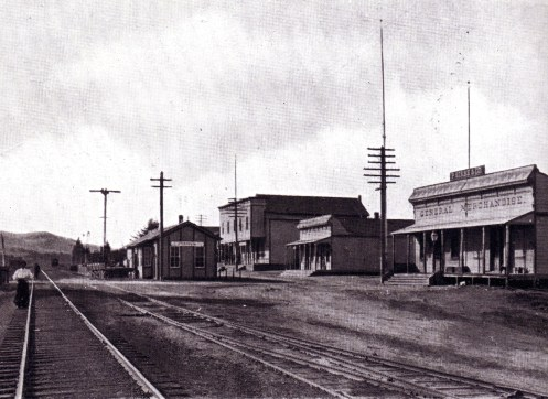 Railroad Station on Cordelia Road in Old Town Cordelia in the late 1800's