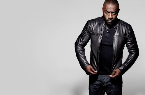 IDRIS ELBA + SUPERDRY COLLECTION LAUNCHES 26.11.15 - IDRIS WEARS THE LEADING LEATHER RACER JACKET £450, LEADING GRANDAD £45, IE CLASSIC BLUE JEAN £8