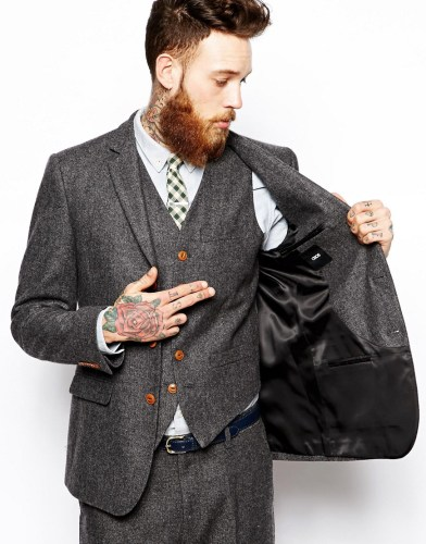 asos herringbone suit