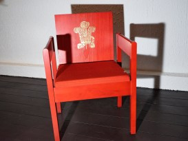 The Room - Investiture Red Chair designed by Anthony Armstrong Jones
