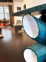 The Room - selected works by Carl Koch and Fred Baier. Foreground, Console Table by Fred Baier