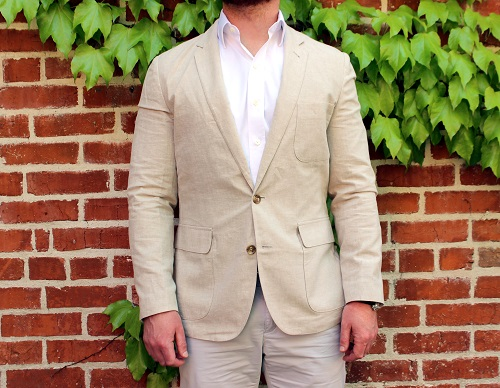 J. Crew Factory Barely There Linen Sportcoat
