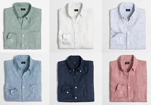 SLIM Linen Button Down Shirts