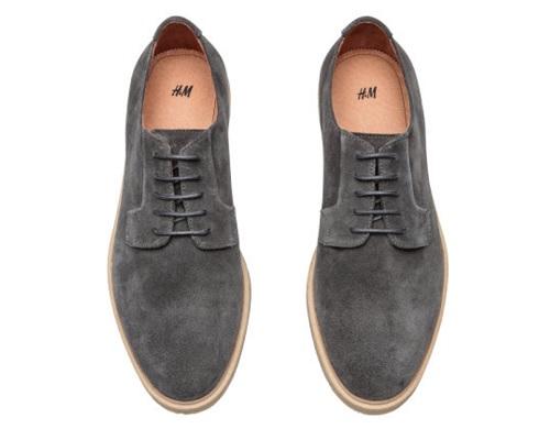 H&M Premium Quality Grey Suede Shoes