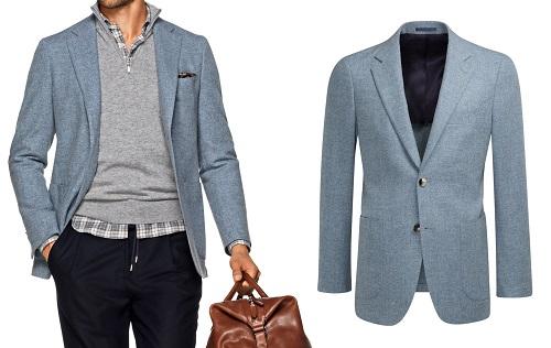 Suitsupply Light Blue Havana Fit Sportcoat