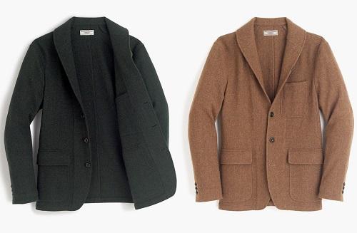 J. Crew Shawl-collar Workwear Jacket in English Wool