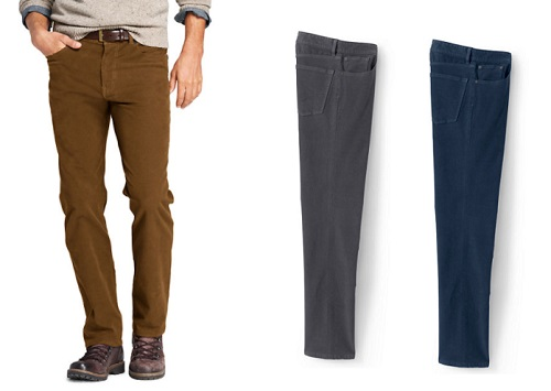 Straight Fit 5 Pocket Stretch Moleskin Pants