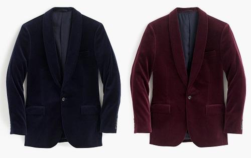 Ludlow Shawl Collar Blazer in Velvet