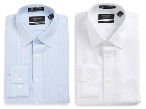 Nordstrom Trim Fit Dress Shirt in Cotton Texture