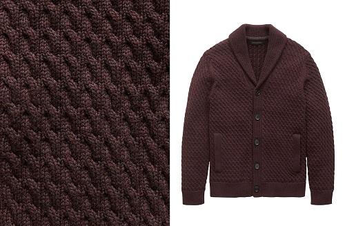 B.R.Cotton Cable-Knit Shawl-Collar Cardigan