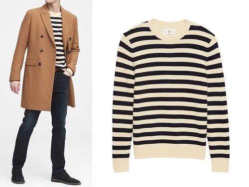 Banana Republic Heritage Italian Wool Blend Stripe Sweater