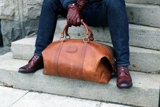 In Review - The Korchmar Twain Leather Weekender | Dappered.com