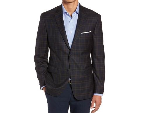 John W. NordstromPlaid Wool Sport Coat