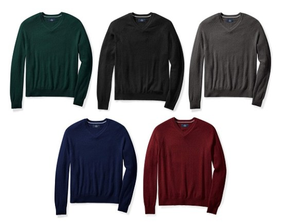 Buttoned Down 100% Cashmere V Neck Sweater